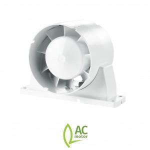 100mm 4 Inch - Blauberg TUBO In Line Bathroom Shower Room Extractor Fan - Axial Flow ...