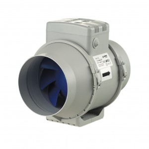 Blauberg In Line Turbo Mixed Flow Tube Extractor Fan - Duct Mounting - Run On Timer - 200mm 8 Inch diameter