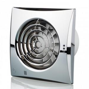 100mm Blauberg Calm Low Noise Energy Efficient Bathroom Extractor Fan Chrome - PIR De...