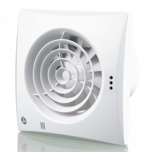 100mm Blauberg Calm Low Noise Hush Quiet Energy Efficient Bathroom Extractor Fan White - Humidity Sensor