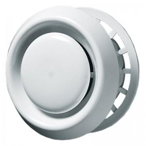 Blauberg Plastic Circular Ceiling Air Valve Disc Vent White - 100mm 4 Inch dia