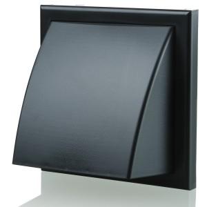 Blauberg Plastic Cowled Hooded Air Ventilation Wind Baffle Wall Grille - 125mm - Blac...