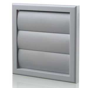 Blauberg Plastic Vented Back Draught Air Gravity Shutter Ventilation Grille - 150mm G...