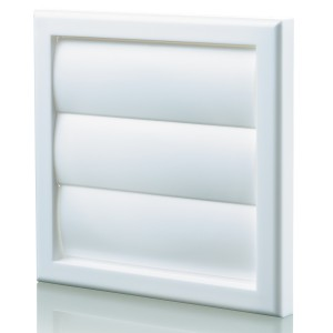 Blauberg Plastic Vented Back Draught Air Gravity Shutter Ventilation Grille - 100mm W...