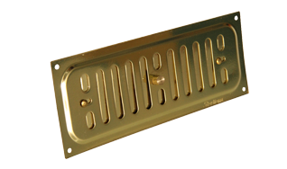 9 X 3 SOLID BRASS HIT & MISS VENT