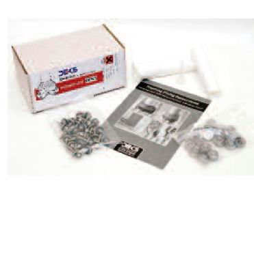 DEKTITE FIXING KIT - SMALL - 25X SCREWS & CAPS, 1X SEALANT