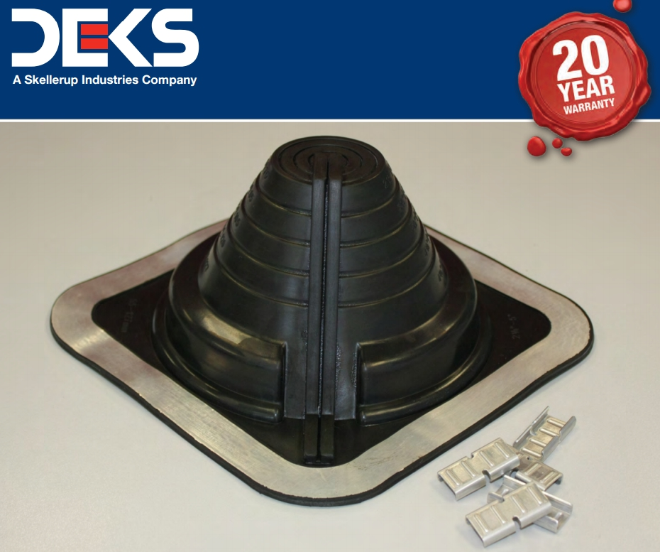DEKTITE COMBO DC110B BLACK EPDM FLASHING FOR PIPE SIZE 400-750MM BASE SIZE 995X995MM