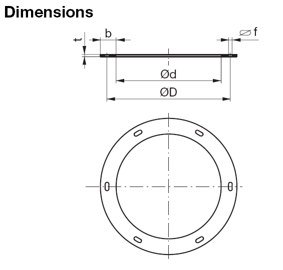 180mm Metal Flange FL180