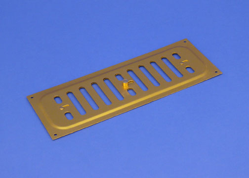 RYTONS 9X3 BRASS ANODISED ALUMINIUM HIT & MISS VENT GRILLE