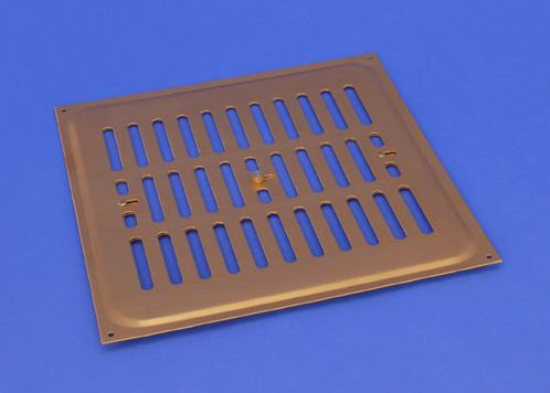 RYTONS 9X9 BRASS ANODISED ALUMINIUM HIT & MISS VENT GRILLE