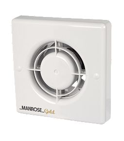 Manrose MG100MHT Wall/Ceiling Fan - Humidity - 100mm