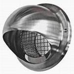 200MM BULL-NOSE VENT WITH WIRE GRILLE