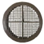 76mm Soffit Ventilator - Brown