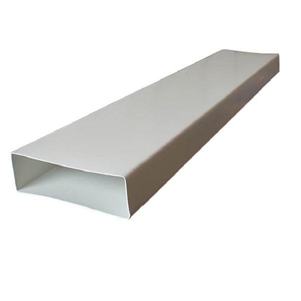 Kair Rectangular Flat Ducting 204mm x 60mm - 1.5 Metre Length Flat Channel Pipe