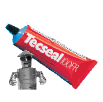 Tecseal 100 Fr - 140G Sealant Tube - Solvent Based Grey