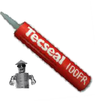 TECSEAL 100 FR - 380G SEALANT CARTRIDGE - SOLVENT BASED GREY