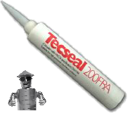 TECSEAL 200FRA - 380CC CARTRIDGE - GREY ACRYLIC SEALANT